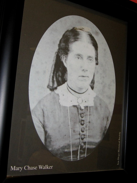 In 1865, Mary Chase Walker became Old Town's first school teacher. She taught at the one room Mason Street schoolhouse and described early San Diego as a desolate place. She went on to join the suffragette movement.