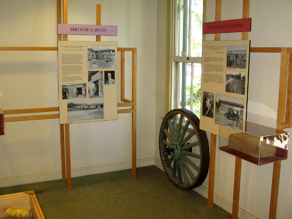 Various fascinating historical exhibits can be explored on the second floor of the McCoy House Museum in Old Town San Diego State Historic Park.