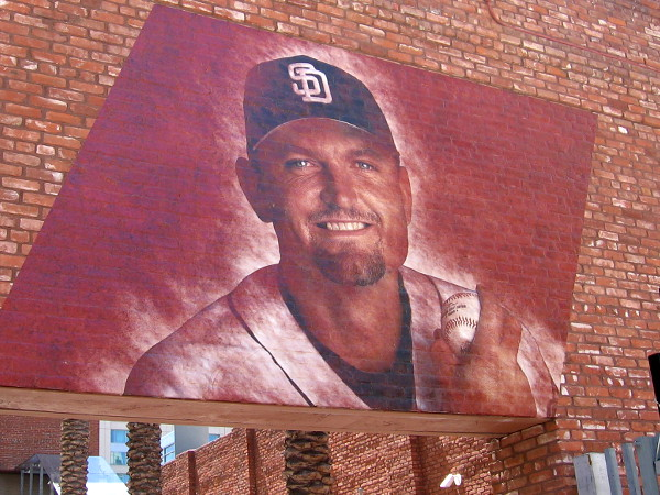 The face of Trevor Hoffman, who pitched as a closer for over 15 years with the San Diego Padres. His 601 saves are the second most in MLB history.