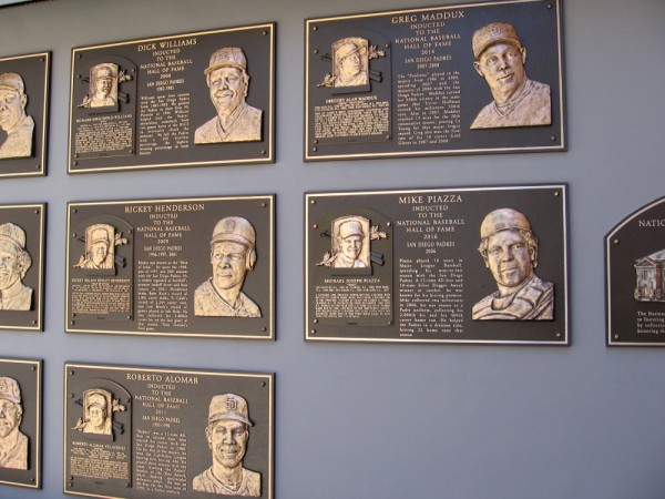National Baseball Hall of Fame players who spent time with the Padres also include Roberto Alomar, Greg Maddux and Mike Piazza.