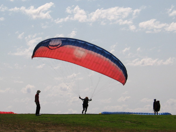 Just a cool shot of a paraglider spreading her wings.