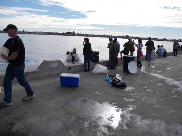 Saturday morning on the pier near the Tuna Harbor Dockside Market.