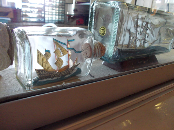 Of course, there are ships in bottles, too!