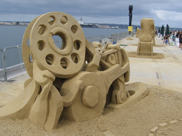 The end of San Diego's B Street Pier is lined with amazing sand sculptures created by world masters for the 2016 U.S. Sand Sculpting Challenge.