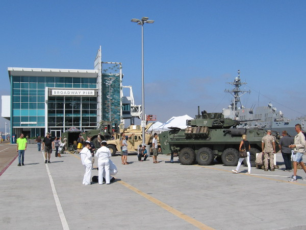 As usual, many events are being held during Fleet Week in San Diego. On the Broadway Pier and the B Street Pier, exhibits demonstrate various technologies utilized by the military.