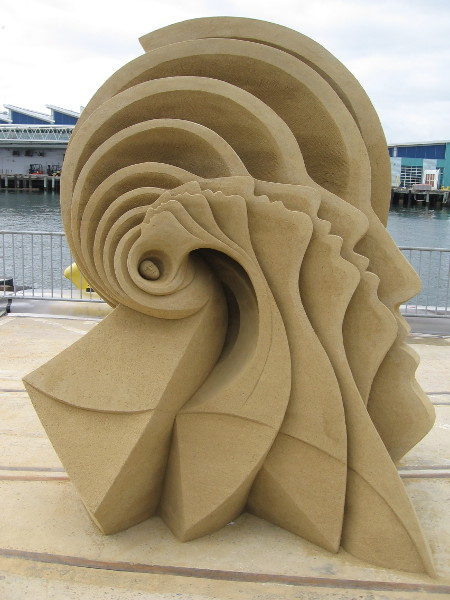 Alpha Waves, by world sand master Fergus Mulvany of Dublin, Ireland. This sculpture won second place at the 2016 U.S. Sand Sculpting Challenge.