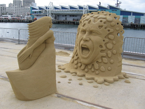 Yell, by world sand master Benjamin Probanza of Mexico City.