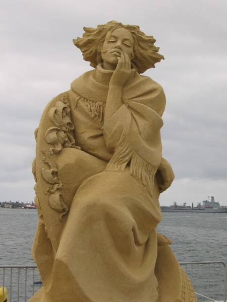 Proof that sand sculptures can sometimes be classified as fine art.