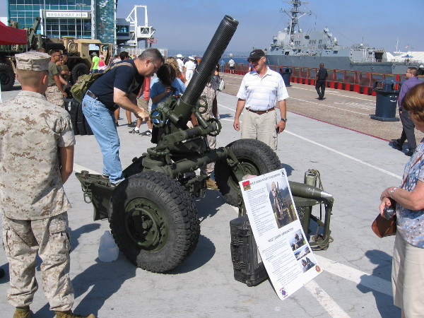 And this is an M327 120MM Rifled Towed Mortar.