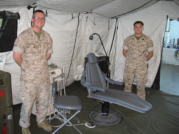 This is a dental chair! Even the toughest warriors occasionally need to have cavities filled.