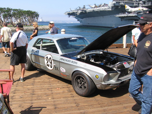 This car, I was told, would participate in the Fleet Week Coronado Speed Festival. The public can watch auto races next weekend at Naval Air Station North Island, across the bay.