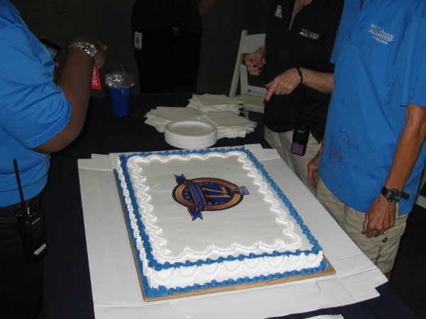 A cake to celebrate 71 years of history on the USS Midway!
