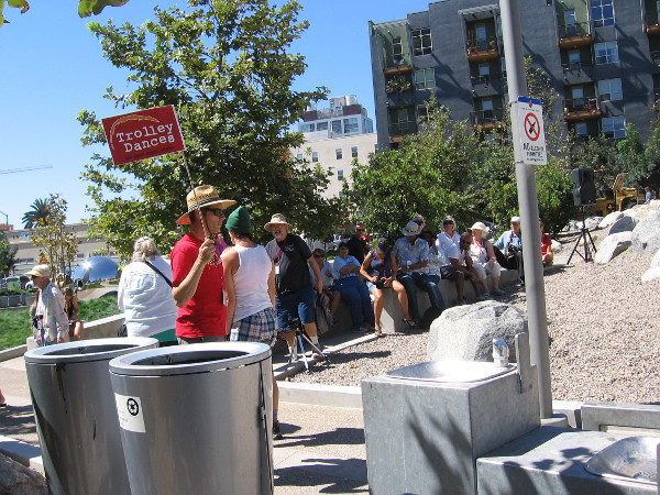 A mobile audience arrives at San Diego's Fault Line Park. The park will be the setting of two energetic dances.