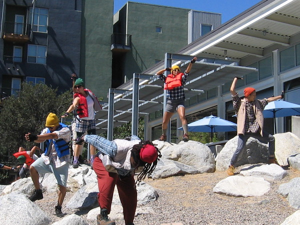 Dancing on boulders at Fault Line Park! Flight of the Valkyries plays!