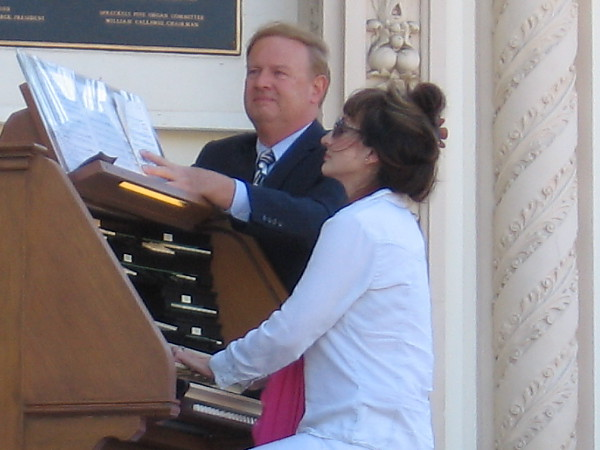 Dr. Carol Williams, a premiere concert organist, plays the Spreckels Organ, the largest outdoor pipe organ in the world.