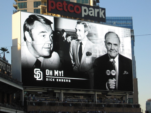 OH MY! Dick Enberg was congratulated and celebrated at the final 2016 home game of the San Diego Padres.