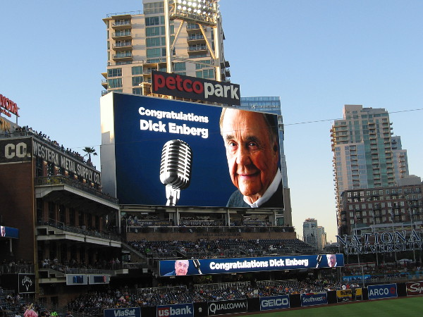 Congratulations Dick Enberg. And thank you!