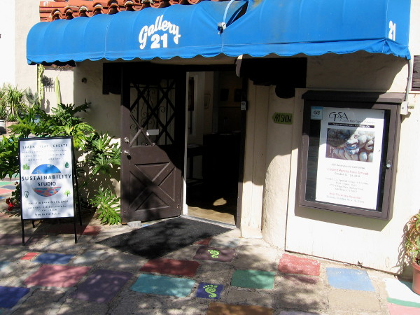 Gallery 21 in Balboa Park's Spanish Village features a special environmental exhibit called Sustainability Studio!