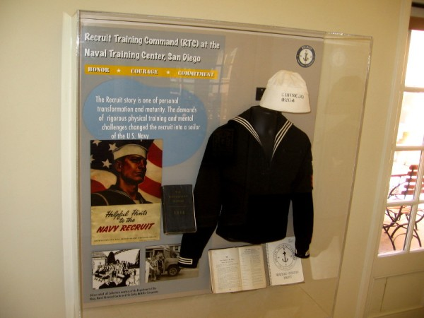 The Recruit story is one of personal transformation and maturity. A display explains how sailors were made at Naval Training Center San Diego.