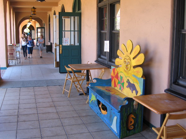 A walk through Liberty Station in Point Loma is always pleasurable. A photographer can find scenes of art, fun and life!