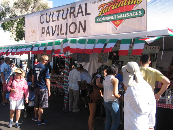 A cultural pavilion at Festa attracted people who were interested in Little Italy's rich culture and history.