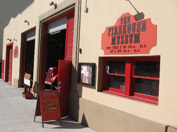 The San Diego Firehouse Museum is manned by friendly firefighter volunteers. It's located in old Fire Station No. 6 at 1572 Columbia Street in Little Italy.
