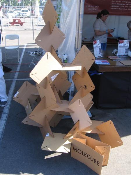 Make your own molecule using this cardboard Molecube!