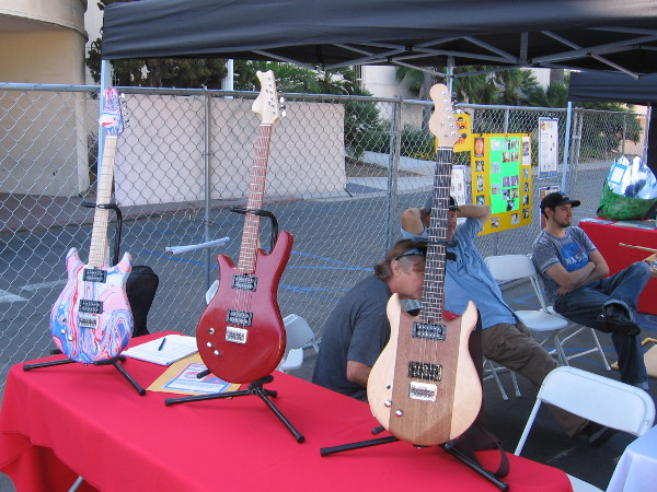 These awesome guitars were made by students in a special STEM Guitar-Building class at San Diego City College.