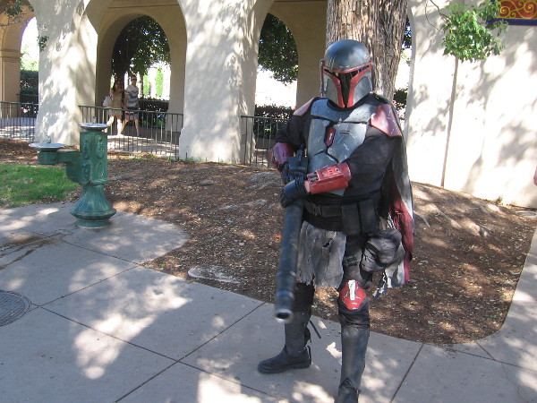Star Wars cosplay between Balboa Park's House of Hospitality and the Japanese Friendship Garden.