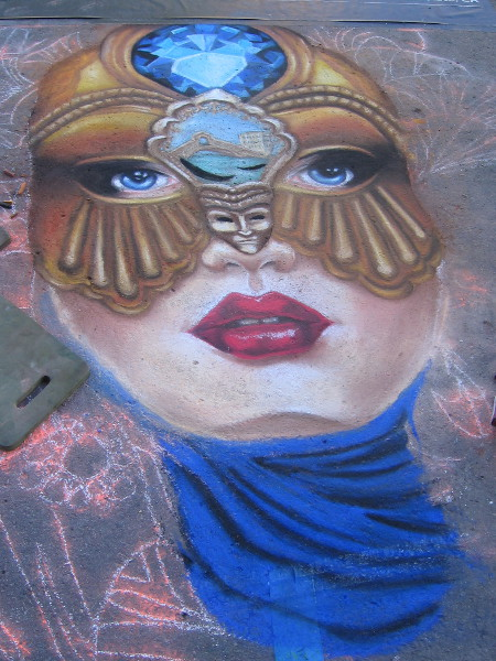 Lidia F. Vasquez. Another sensational work of art by a very accomplished young chalk artist.