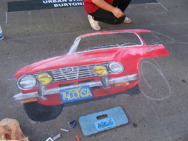 Chalkolate. A red Alfa Romeo made entirely of chalk. The Gesso Italiano at 2016 Festa celebrates everything Italian, including cars!