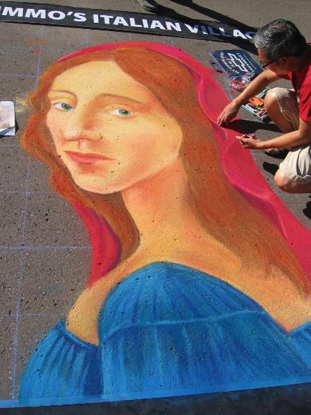 Alex Dejecacion. Some fine chalk artistry has produced a lovely woman.