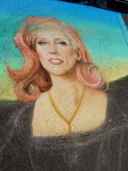 Weenie Kingdom. Another amazing chalk female portrait.