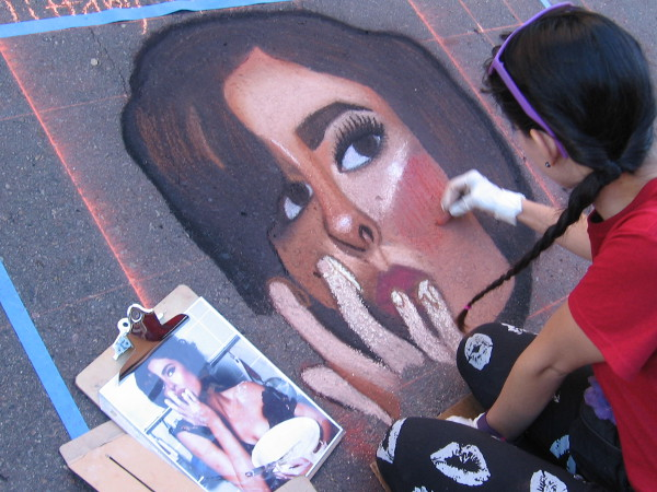 Tiffany Garza. A face from Italian popular culture appears on a San Diego street.