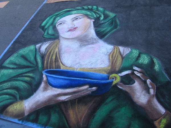Shawnet Sweets. A classic Italian painting translated into chalk.