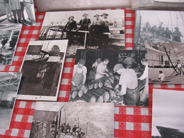 Old photos of life in Little Italy include workers at a cannery and fishermen mending nets.