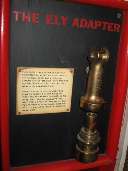 The Ely Adapter was invented by San Diego Fire Department's Assistant Chief Robert Ely.