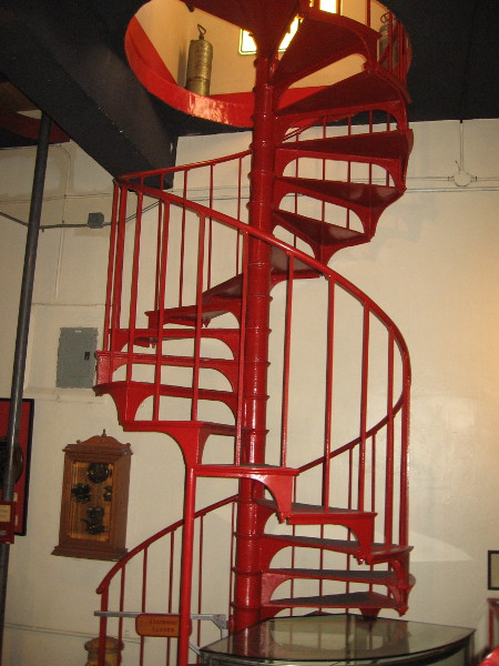 Stairs once used by scrambling firefighters when old Fire Station No. 6 was operational.