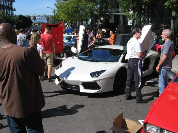 An exhibition of Italian sports cars included Maseratis and Lamborghinis.