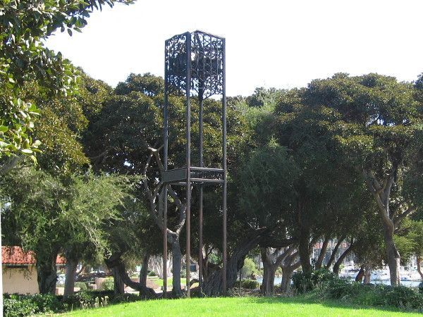 I remember hearing the Callaway Carillon bell tower near the center of Spanish Landing Park when I was a child. I believe it no longer works. I hope I'm wrong.