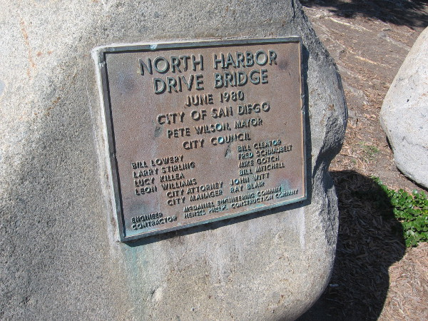 The North Harbor Drive Bridge was dedicated in June 1980.