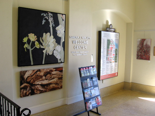 A small collection of paintings can be enjoyed inside the entrance to the old Naval Training Center San Diego's command building.