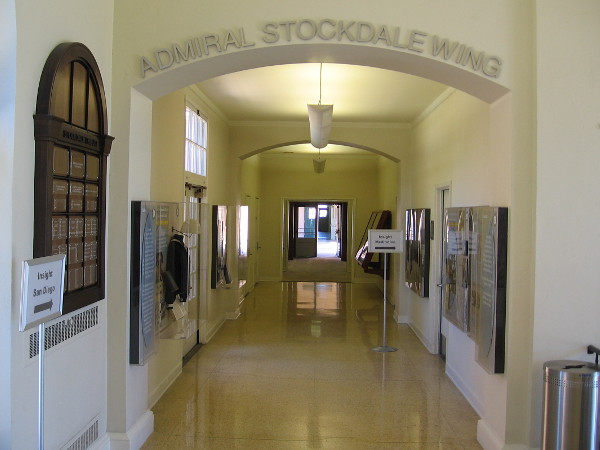 The Admiral Stockdale Wing of the NTC Command Center has a corridor lined with historical photos, Navy artifacts and interesting information.