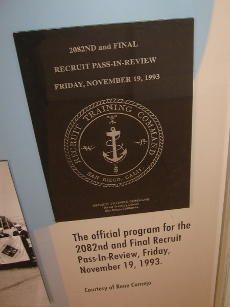 The 2082nd and Final Recruit Pass-In-Review, Friday, November 19, 1993.