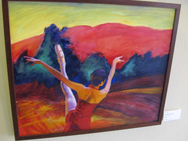 Red Ballerina, a painting by Jori Owens.