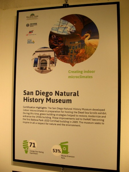The San Diego Natural History Museum became the first Balboa Park LEED Certified building in 2009.