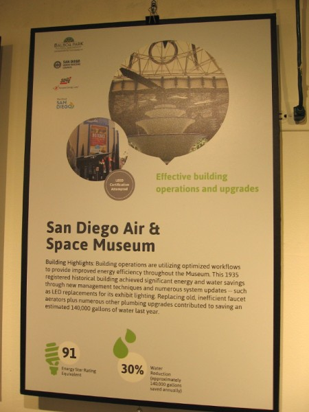 The San Diego Air and Space Museum has increased energy efficiency and achieved significant water savings.