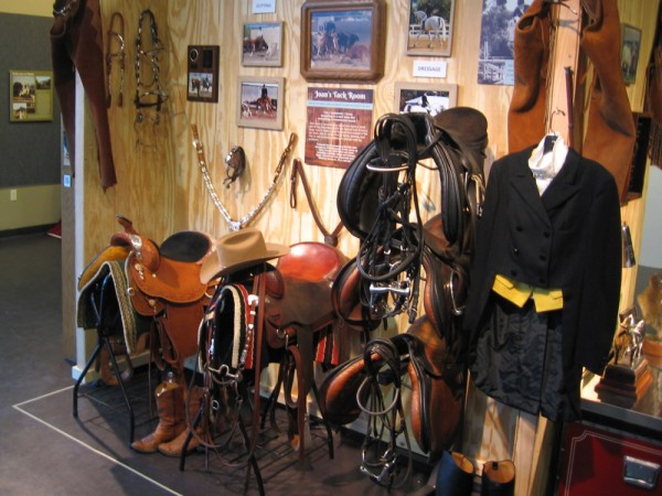 Joan Embery's Tack Room with many related photographs can be found at her museum exhibit in Bonita. Above all, she loves riding horses.