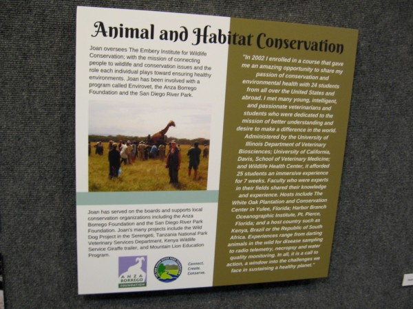Joan oversees The Embery Institute for Wildlife Conservation. She has been involved with many programs dedicated to animal and habitat conservation.