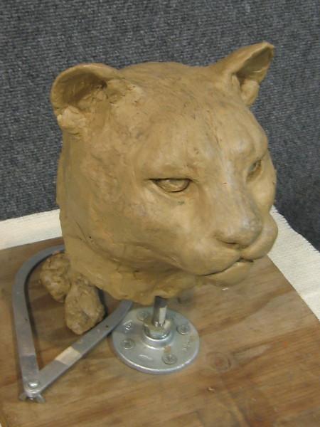 Mountain lion head sculpted by Joan Embery's talented artist husband, Duane Pillsbury.